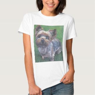 yorkie Yorkshire Terrier Fine Art Painting T-shirt