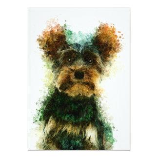 """Yorkie / Yorkshire Terrier Pet Portrait 5"""" x 7"""" Card"""