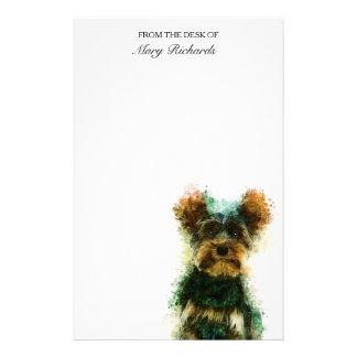 Yorkie / Yorkshire Terrier Pet Portrait Stationery