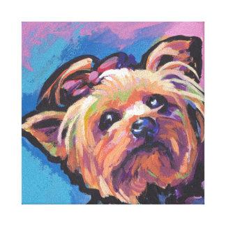 Yorkie Yorkshire Terrier Pop Art Canvas Print