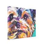 yorkie Yorkshire Terrier Pop Art On Wrapped Canvas Gallery Wrap Canvas