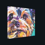 "yorkie Yorkshire Terrier Pop Art On Wrapped Canvas<br><div class=""desc"">Here&#39;s a wonderful,  bright,  fun,  tribute to your best friend and favorite breed- the Yorkie!  from an original painting by Lea</div>"