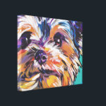 """yorkie Yorkshire Terrier Pop Art On Wrapped Canvas<br><div class=""""desc"""">Here&#39;s a wonderful,  bright,  fun,  tribute to your best friend and favorite breed- the Yorkie!  from an original painting by Lea</div>"""