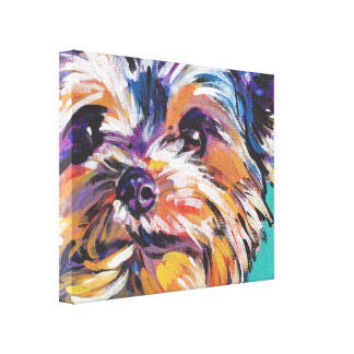 yorkie Yorkshire Terrier Pop Art On Wrapped Canvas Canvas Print