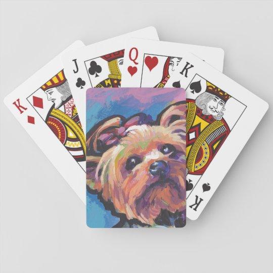 Yorkie Yorkshire Terrier Pop Art Playing Cards | Zazzle.com