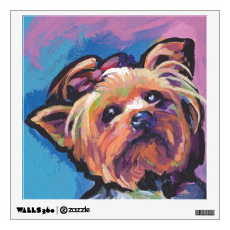 Yorkie Yorkshire Terrier Pop Art Wall Sticker