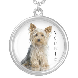 """Yorkie """"Yorkshire Terrier"""" Silver Pendant Necklace"""