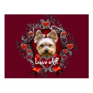 Yorkie Yorkshire Terrier Valentine's Day Postcard