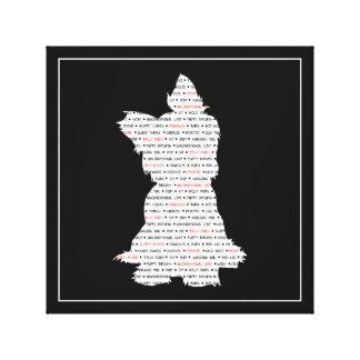 Yorkie / Yorkshire Terrier Word Art Canvas Print