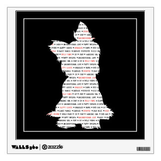 Yorkie / Yorkshire Terrier Word Art Wall Decal