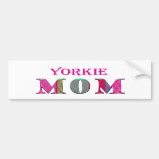 YorkieMom Car Bumper Sticker