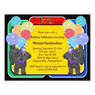 YorkiePoo Birthday Barker Card