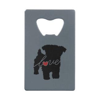Yorkiepoo (Yorkie / Poodle) Love Credit Card Bottle Opener
