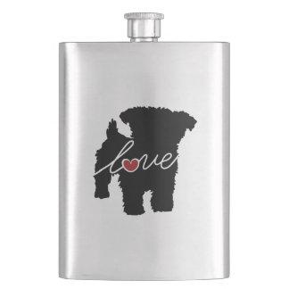 Yorkiepoo (Yorkie / Poodle) Love Flask