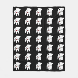 Yorkiepoo (Yorkie / Poodle) Love Fleece Blanket