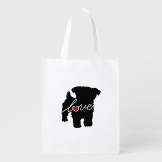 Yorkiepoo (Yorkie / Poodle) Love Grocery Bag
