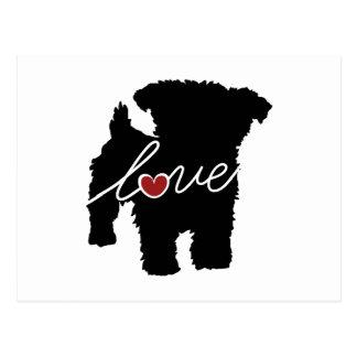 Yorkiepoo (Yorkie / Poodle) Love Postcard