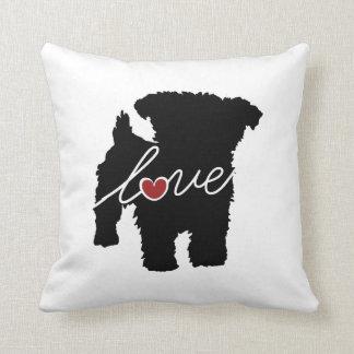 Yorkiepoo (Yorkie / Poodle) Love Throw Pillow