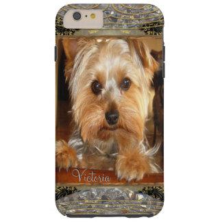Yorkies de amor o inserta su propia foto funda de iPhone 6 plus tough