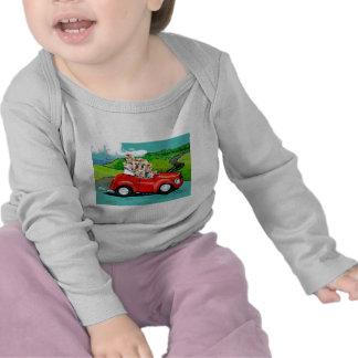 Yorkies en camiseta infantil convertible roja