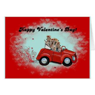 Yorkies en tarjetas del día de San Valentín conver