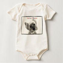 Yorkies Forever Infant Organic Creeper