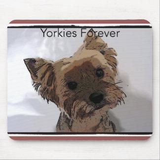Yorkies Forever mousepad