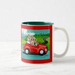 Yorkies in Red Convertible Mug Cup
