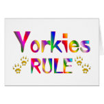 Yorkies Rule Greeting Cards