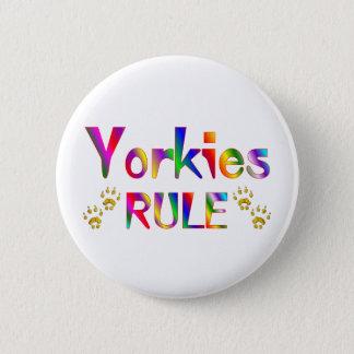 Yorkies Rule Pinback Button