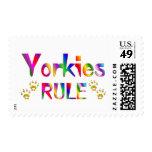 Yorkies Rule Postage Stamp