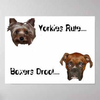 Yorkies Rule Poster