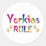 Yorkies Rule Sticker