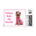Yorkies Rule the World US Postage Stamp