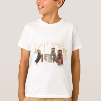 Yorkies Travelling Paris Tee Shirt