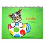 Yorkies Yorkshire Terriers Off-Leash Art™ Vol 1 Calendar