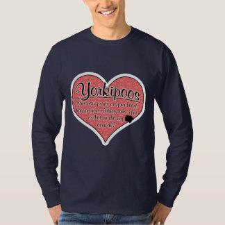 Yorkipoo Paw Prints Dog Humor T-Shirt