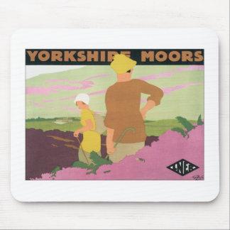 Yorkshire amarra tapetes de ratones