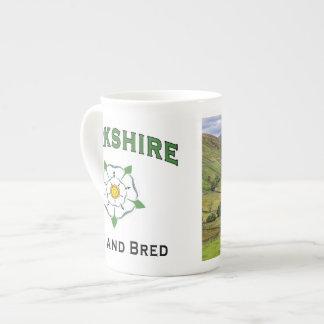 Yorkshire Born and Bred China Mug Bone China Mug