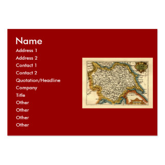 Yorkshire County Map, England Large Business Cards (Pack Of 100)