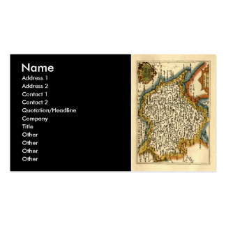 Yorkshire County Map, England Business Card