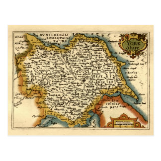 Yorkshire County Map England Postcards