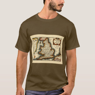 Yorkshire County Map, England T-Shirt