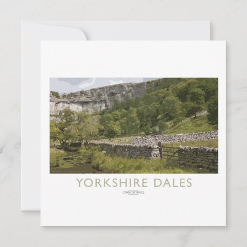 Yorkshire dales Railway Poster