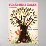 Yorkshire Dales vintage Travel Print. Poster