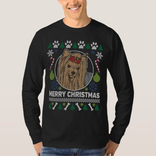 Yorkshire Dog Breed Ugly Christmas Sweater After Christmas Sales 3398