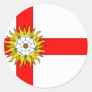 Yorkshire (Flag Institute), Reino Unido Pegatina Redonda