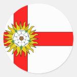 Yorkshire (Flag Institute), United Kingdom Round Stickers