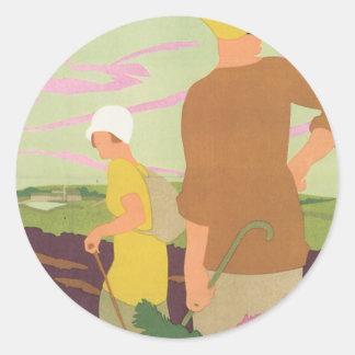 Yorkshire Moors Classic Round Sticker