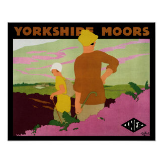 Yorkshire Moors Poster